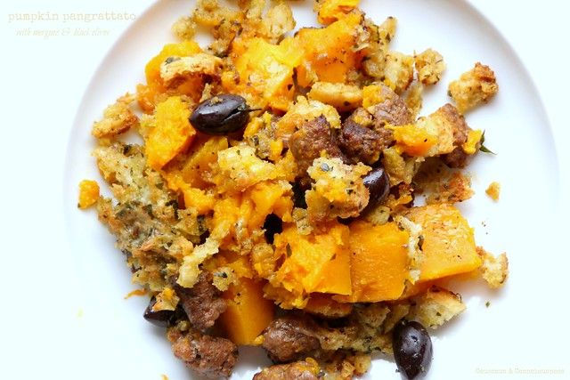Pumpkin Pangrattato with Merguez & Black Olives 4