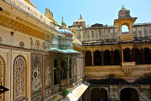 Udaipur City Palace courtyard