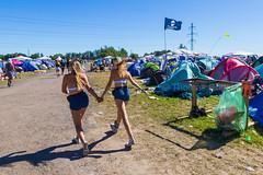 Roskilde Festival - Entering Pirates camp