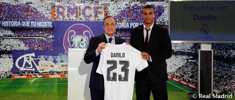 El Real Madrid presenta a Danilo