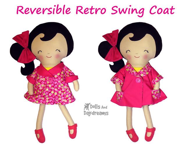 Reversible Retro Swing Coat Pattern