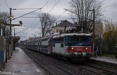La BB 17071 entre en gare d'Herblay