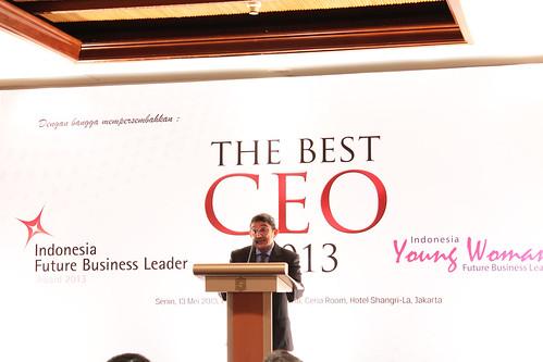 The Best CEO & Indonesia Future Business Leader Award 2013 ~ Sambutan Kemal Gani.