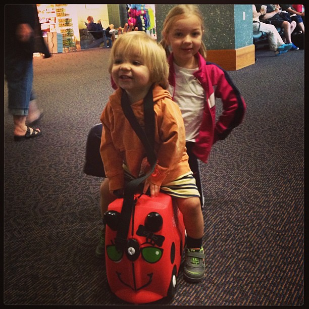 Kids are loving their #Trunki at PVD. Travel win. #TDAD