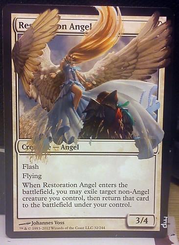 Restoration Angel altered art mtg magic the gathering altered art Magic Angel artwork Restoration angel art extended art textless magic card Restoration angel mtg diemwing