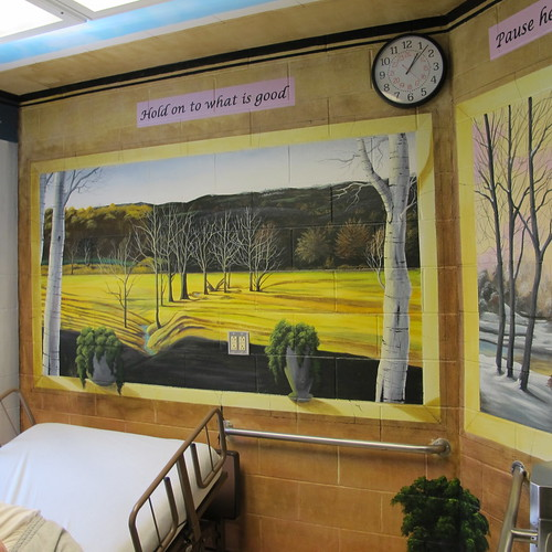hospice room where patients spend their final days in the infirmary