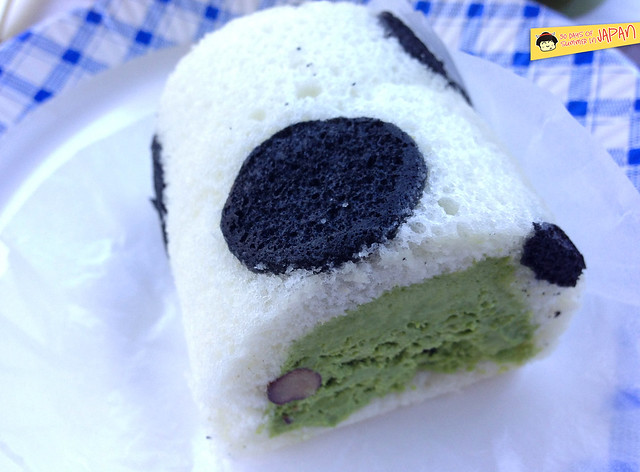 cafe hibiki - ueno park - Panda roll cake, green tea red bean