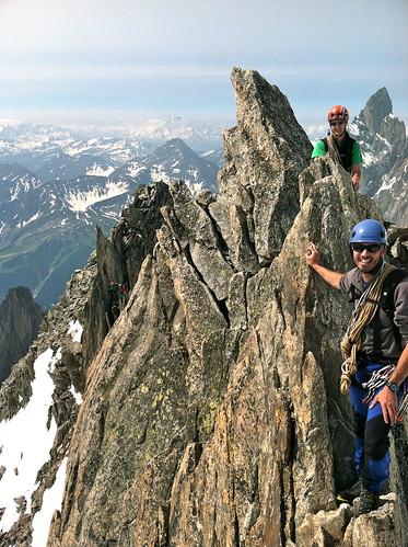 Aiguilles d'Entreves Traverse  Italy. France, Aosta, Chamonix