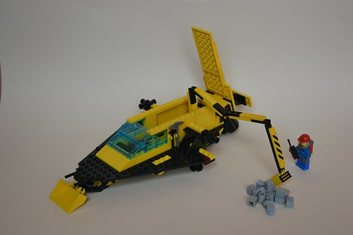 LL-924 backhoe with fully extended crane