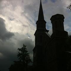Summer storm silouhette