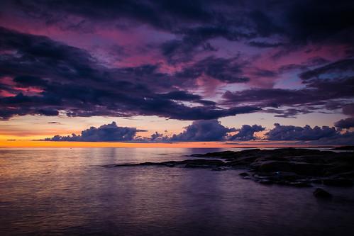 pink sunset sea seascape yellow clouds finland evening colours jakobstad fäboda lillsand