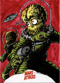 Mars Attacks Sketch Card