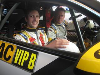 Ronald Holzer mit Immo Michel im Opel ADAM Cup