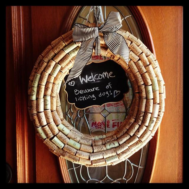 wine cork wreath