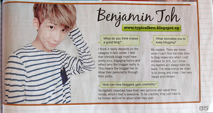 typicalben on teenage magazine interview