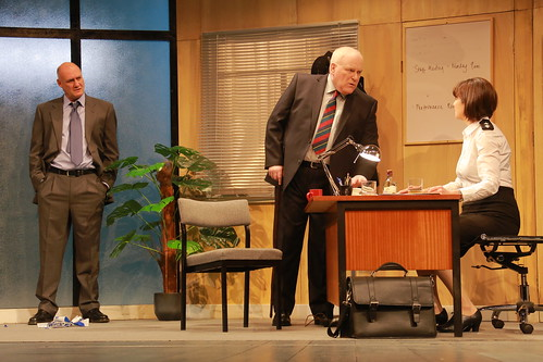 Robert Gwilym as Frank Bowman , Ron Donachie as Fergus McLintock and Maureen Beattie as Isobel McArthur. Photo © Douglas McBride