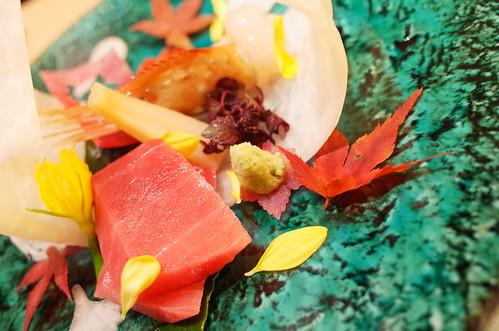 otsukuri sashimi tuna, shrimp