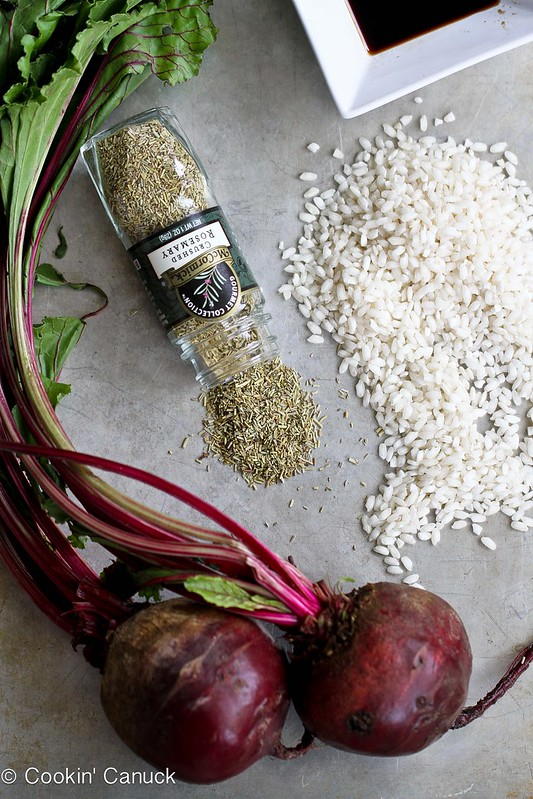 One-Pot Beet, Rosemary & Kale Arborio Rice Pilaf Recipe | cookincanuck.com #vegetarian
