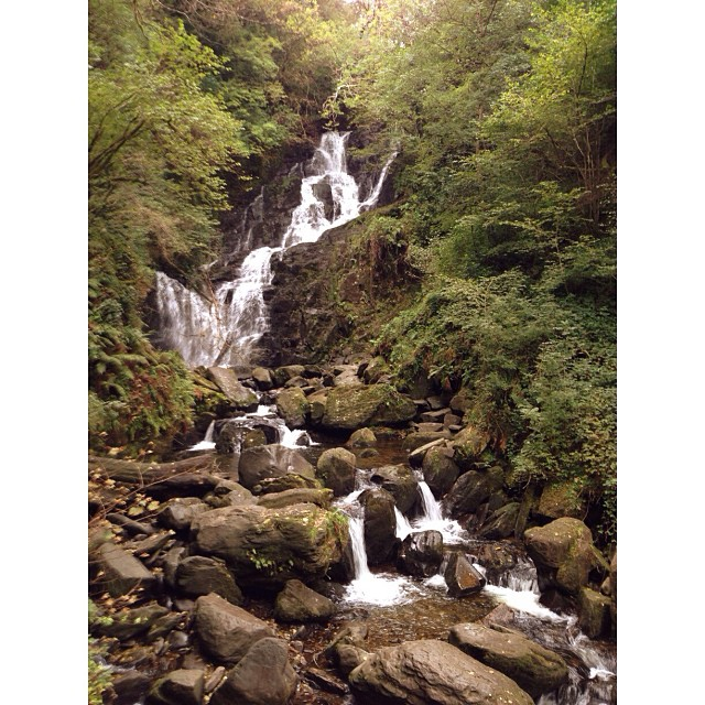 Torc Waterfall in Killarney National Park on Saturday. #latergram