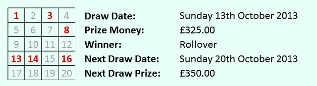 lottery 13 Oct