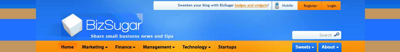 blogging communities - bizsugar