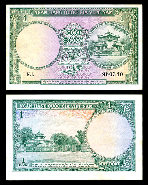 1955 South Vietnam 1 Dong