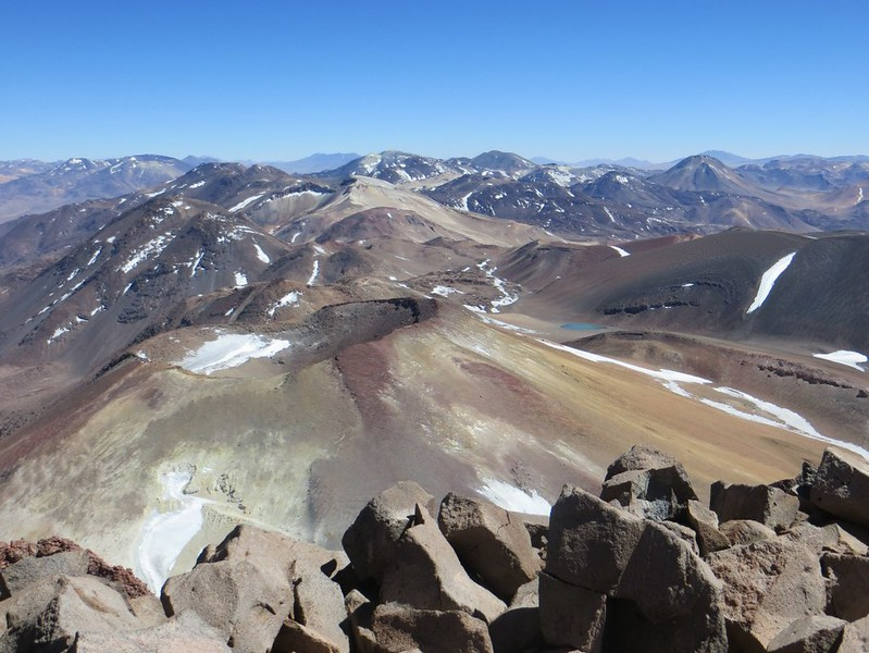 Looking north from the summit of Sairecabur