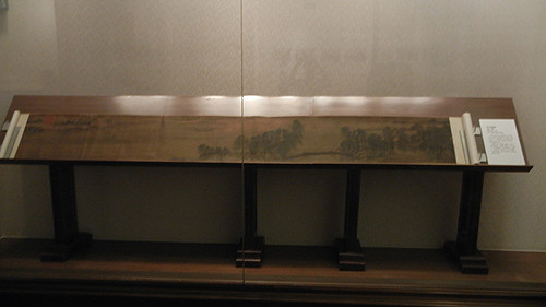 DSCN6217 _ 荷乡清夏图 Clear Summer Lotus Country, 马麟 Lin MA, 南宋 Southern Song Dynasty, 41.7x323cm, Liaoning Museum, Shenyang, China