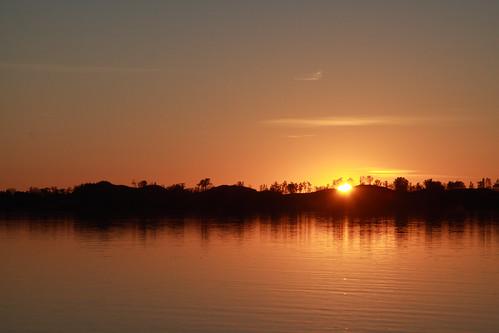 thanksgiving sunset sun canada fall water canon eos westlake colourful sandbanks canadianthanksgiving 50d