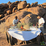 Sundowner at Sossusvlei Lodge - Namibia