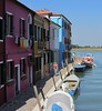 Houses by the canal in Burano by Train Fan