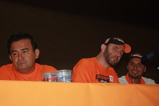 Os diretores sindicais Maurício, Jefferson (também da Executiva Estadual do Solidariedade) e Rodrigo (pres. da Secretaria da Juventude)