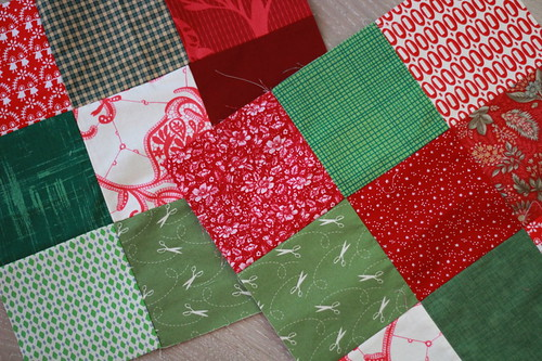 simple christmassy patchwork