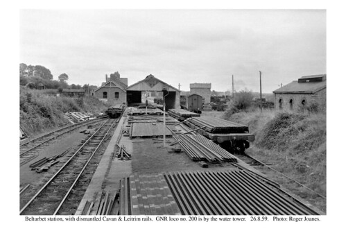Belturbet station (closed) with rails. 26.8.59
