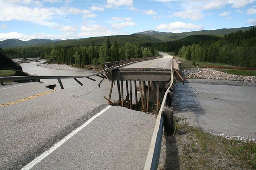 1 Hwy 66 - Elbow River washed out Bridge Aug 2013
