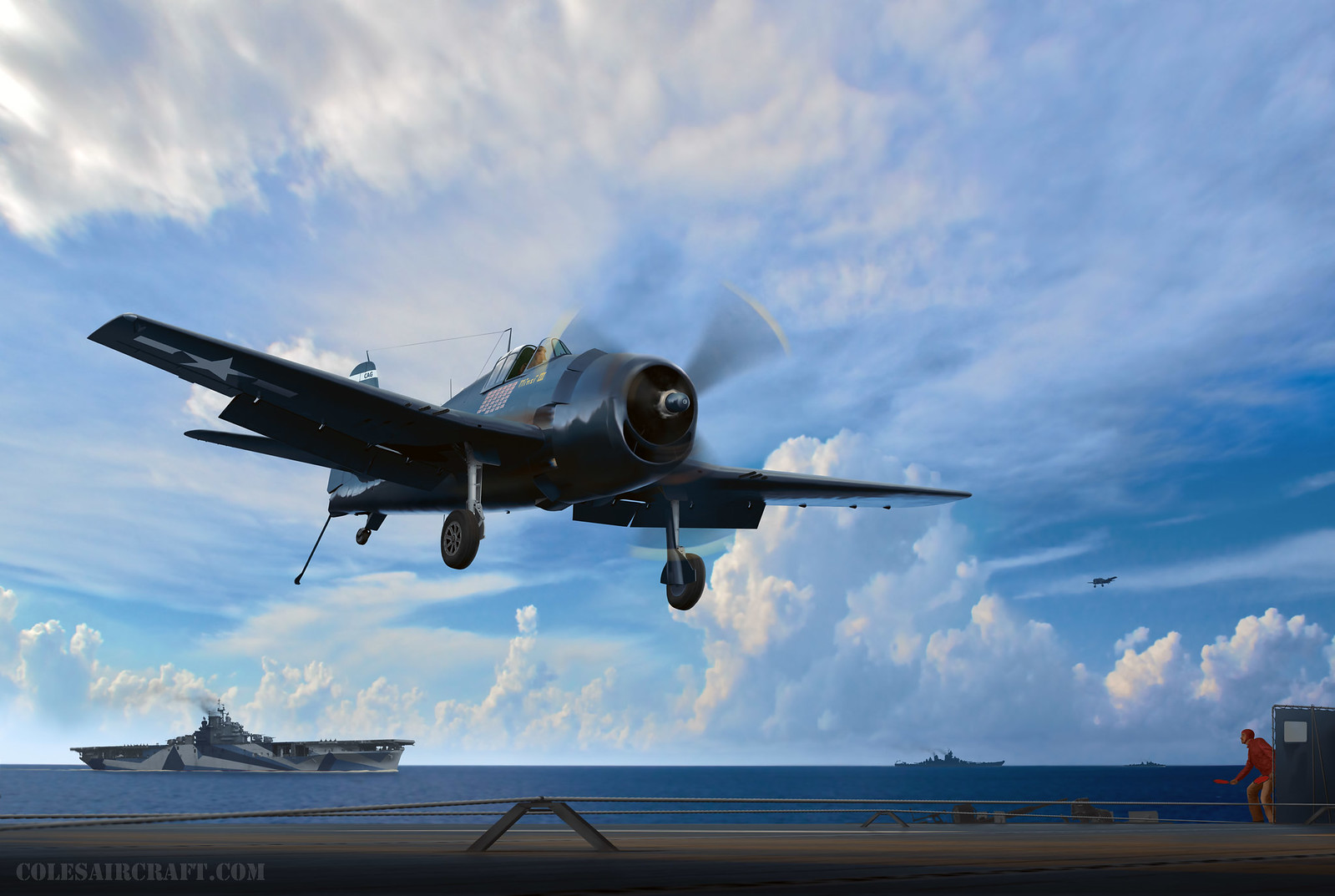 рисунок United States Navy F6F-5