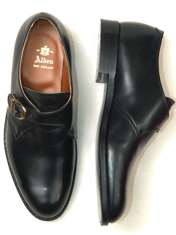 Alden / 955 Black Calfskin Monk Strap