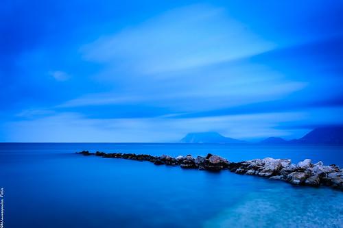 longexposure blue sea seascape clouds nikon greece bluehour cpl hoya lightroom patra ndx8 d3200 ndx400