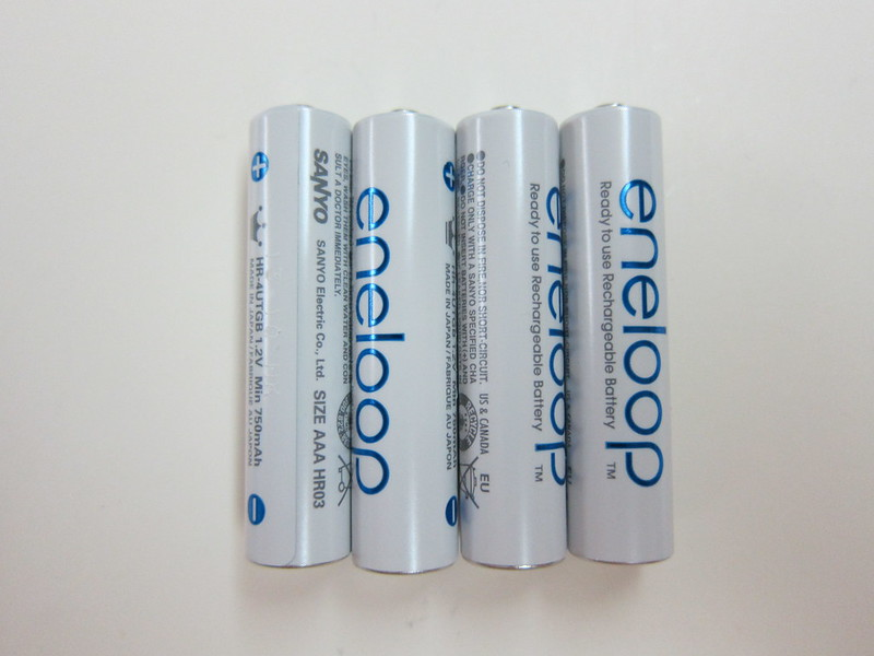 Eneloop Rechargeable AAA Battery Pack - 4x AAA Rechargeable Batteries