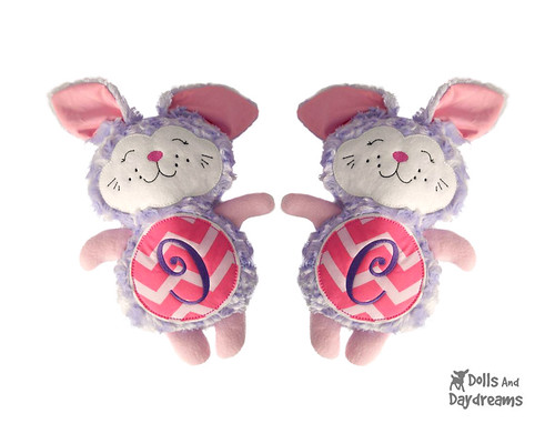 Bunny Rabbit Pattern Softie Stuffie Embroidery Machine ITH Sewing Easter DIY Easy copy