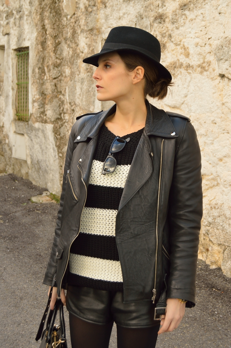 lara-vazquez-madlula-blog-black-white-look-biker-jacket-fashion-hat