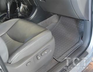 Husky liners fit perfectly in the GX-470 From Lexus / snowboard transport | TCT Magazine January 2014