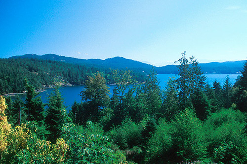 Cooper Cove and Goodridge Peninsula in Sooke, Vancouver Island, British Columbia, Canada