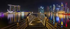 Singapore Marina Night Panorama