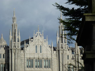 Marischal College, Broad Street, Aberdeen from Upperkirkgate