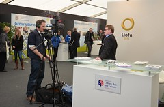 Líofa Development Officer, Ian Malcom, at Balmoral show 2013
