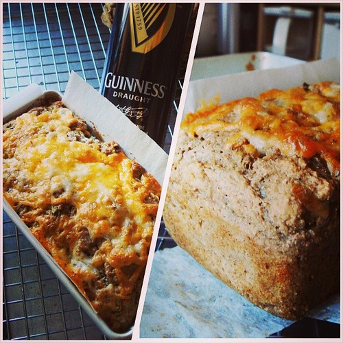 Cheddar Chives Stout Bread made sure I do not have leftover Guinness in the fridge. Recipe from @thekitchn
