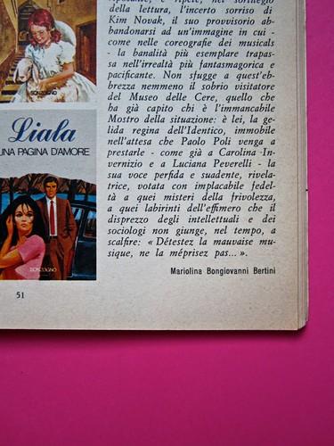 Alter Alter, marzo 1979, anno 6, numero 3. Direzione: Oreste del Buono, art director: Fulvia Serra. Pag. 51 (part.), 1