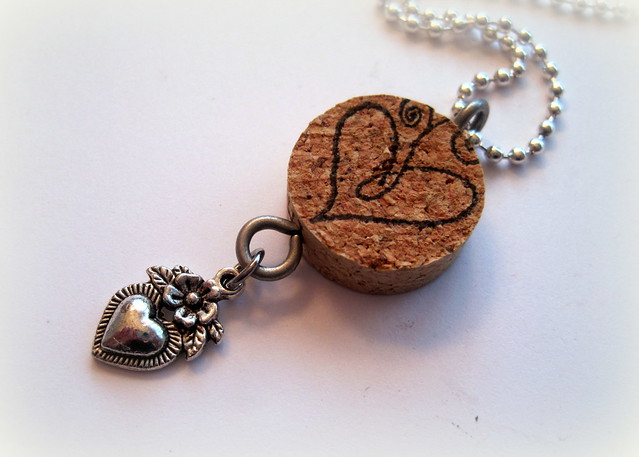 Cork Necklace - Heart - Designs By Dawn Rene