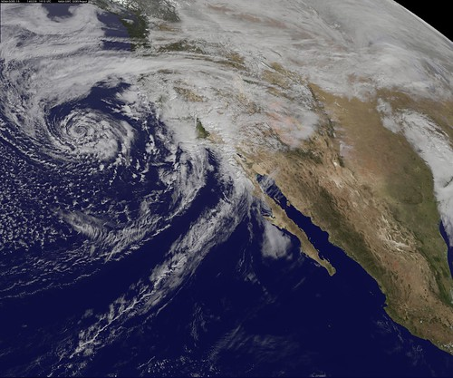 GOES-West Satellite Eyes Soggy Storm Approaching California